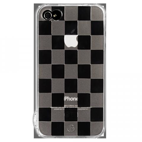 iPhone4/4s チェッカード ソフトTPUケース