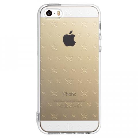 iPhone5/5s/SE ダブルサイズスター ソフトTPUケース