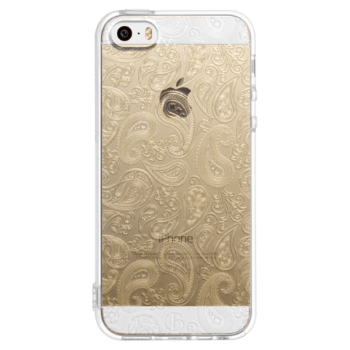 iPhone5/5s/SE TPUソフトケース ペイズリー