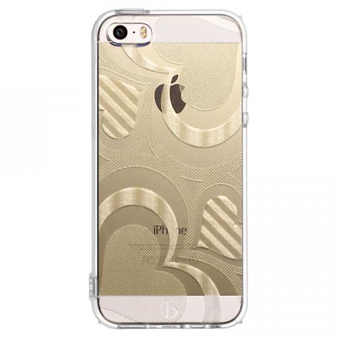 iPhone5/5s/SE フレアハート ソフトTPUケース