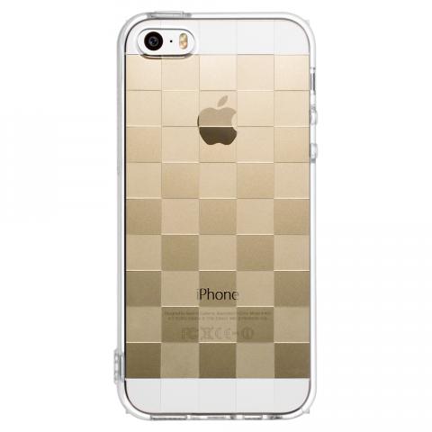 iPhone5/5s/SE チェッカード ソフトTPUケース
