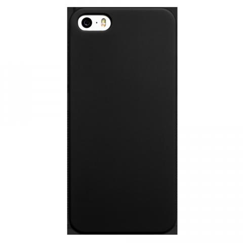 iPhone5/5s/SE マット ブラックラバーケース