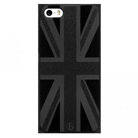 iPhone5/5s/SE ユニオンジャック ブラックラバーケース