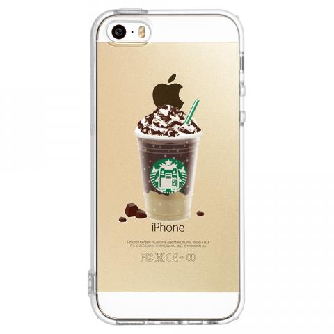 iPhone5/5s コーヒー ソフトTPUケース