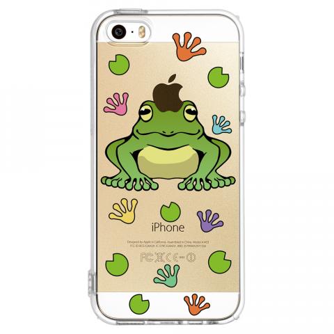 iPhone5/5s カエル ソフトTPUケース