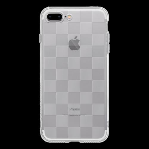 iPhone7 Plus TPUソフトケース チェッカード