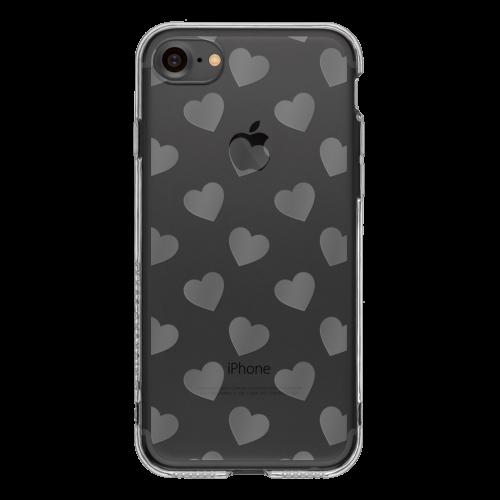 iPhone7 TPUソフトケース ハート